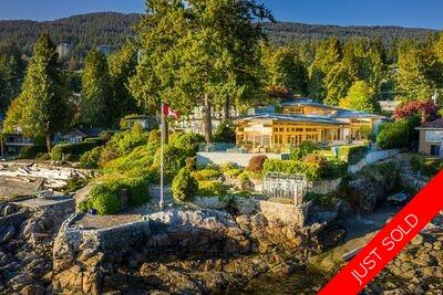 UNIQUE WATERFRONT home located on a private peninsula in West Vancouver
